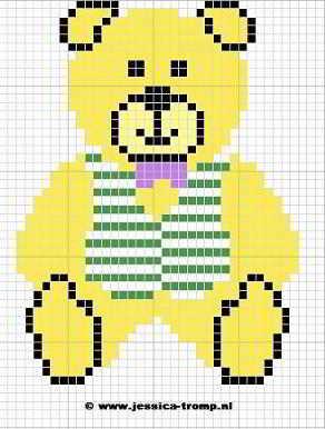 Uitgelezene 20 crossstitch bears 1 stitching charts gratis beren OF-01