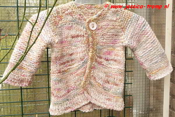 Populair Gebreid vestje in de kinder maat 98 gratis breipatroon brei zelf  LZ61