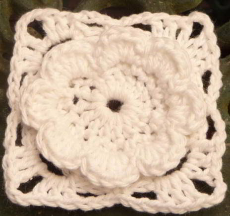 51a English American Granny Square Crochet Triangle Joining Instructions