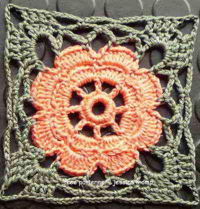 Fl03 English Womens Crochet Pattern Crocheted Flowers