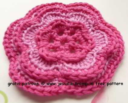 Ongekend 07 roze bloemen haken haakpatronen free crochet flower patterns GY-13