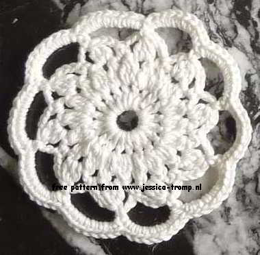 fl01 English women\'s crochet pattern crocheted flowers