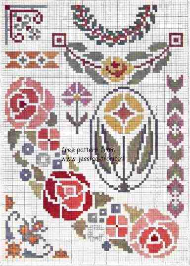 Iets Nieuws 15 free DMC cross stitch patterns gratis kruissteekpatronen &LY44
