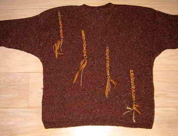 Boord breien aan trui