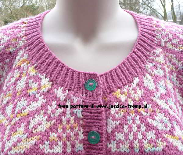 women's cardigan with flower motif
