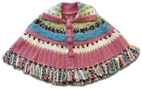 36b English Baby Ponchos Patterns Free Knitpatterns For 6 12 18 Months