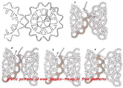 Gehaakte Bloemen Samenhaken How To Join Flowers Square