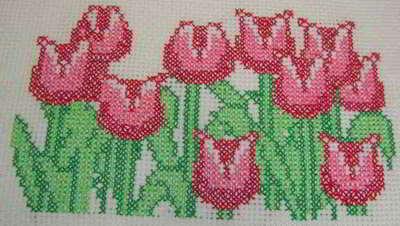 Welp 89 crossstitch flowers 5 stitching charts gratis bloemen VA-63