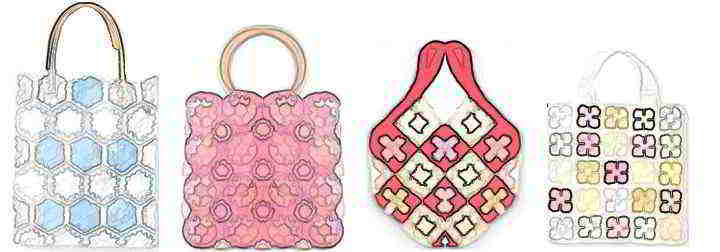 69 English Free Crochet Patterns Handbags Totebags Purses Crocheting