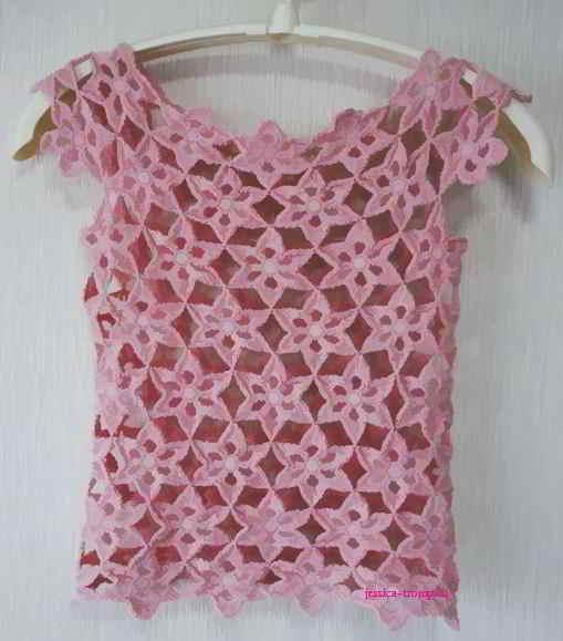 fl10 English women\'s crochet pattern crocheted flowers
