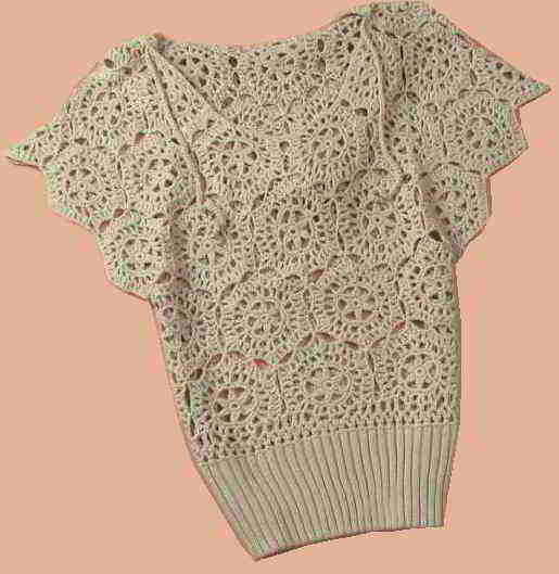 Fl16 English Womens Crochet Pattern Crocheted Flowers
