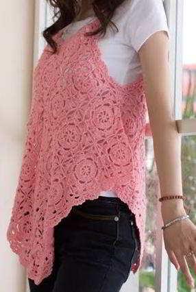 fl17 English women\'s crochet pattern crocheted flowers