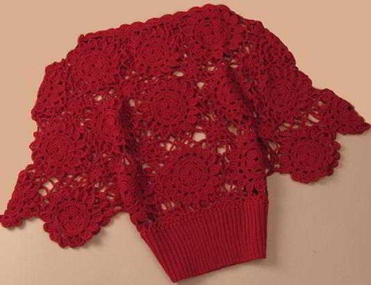 Fl15 English Womens Crochet Pattern Crocheted Flowers