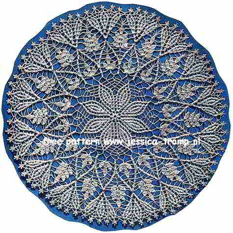 Cluster Stitch English Doily Pattern Free Vintage Crocheted Doilies