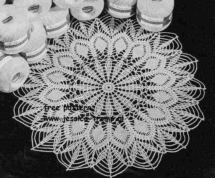 Easy Pineapple English Doily Pattern Free Vintage Crocheted Doilies