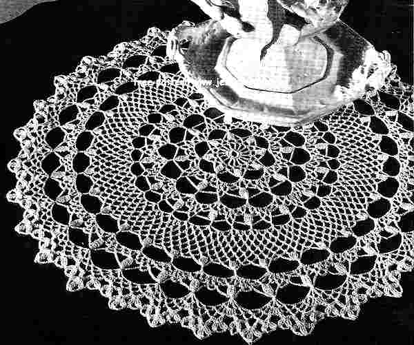 Honeysuckle English Doily Pattern Free Vintage Crocheted Doilies