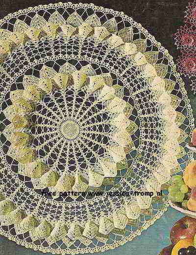 Magnolia Blossom English Crochet Pattern Vintage Doily Free Doilies