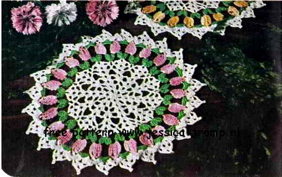 Rose Tea English Crochet Pattern Vintage Doily Free Doilies