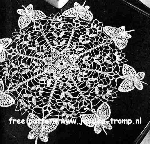 Butterfly English doily pattern free vintage crocheted doilies