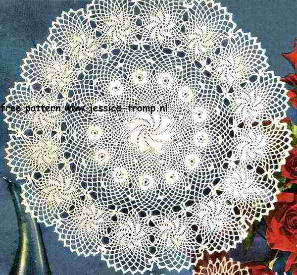 Rose Of Erin English Crochet Pattern Vintage Doily Free Doilies