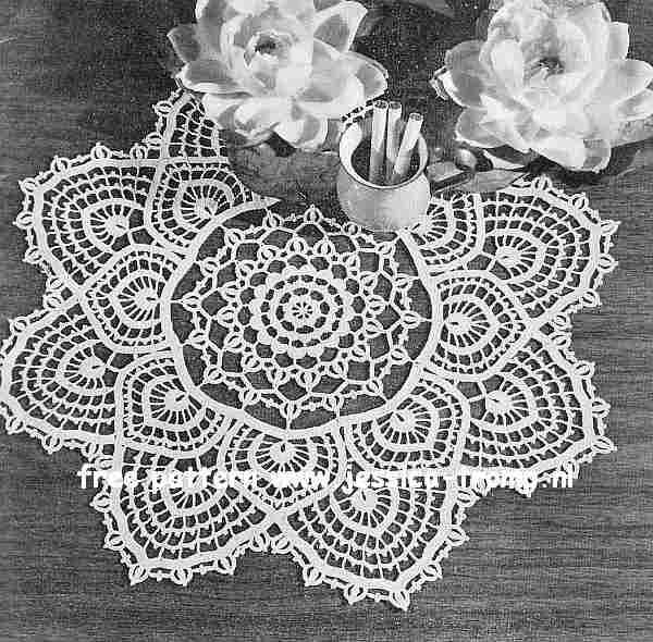 Fandango English Doily Pattern Free Vintage Crocheted Doilies