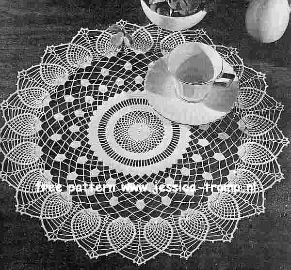 Pineapple Sheer English Crochet Pattern Vintage Doily Free Doilies