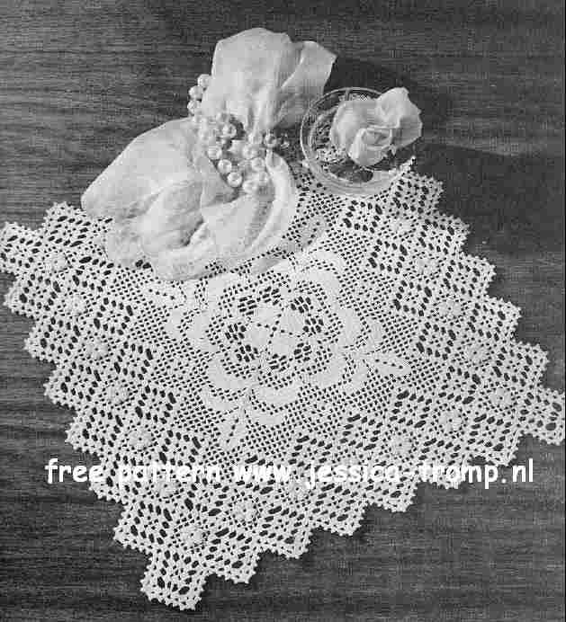 Filet Valentine English Doily Pattern Free Vintage Crocheted Doilies