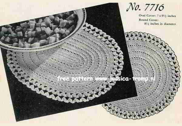 Round And Oval Covers English Crochet Pattern Vintage Doily Free Doilies