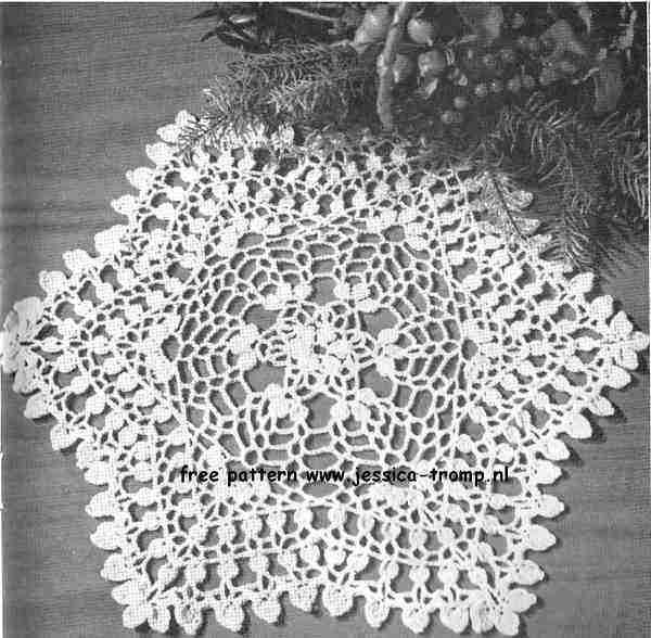 Petal Cluster English crochet pattern vintage doily free doilies