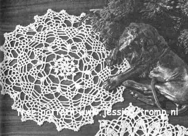 Spider English Crochet Pattern Vintage Doily Free Doilies