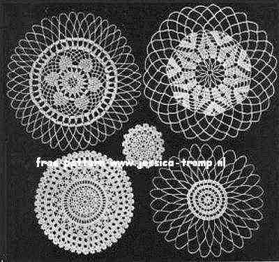 Five Round Doilies Vintage Crochet Patterns Free Doily Pattern