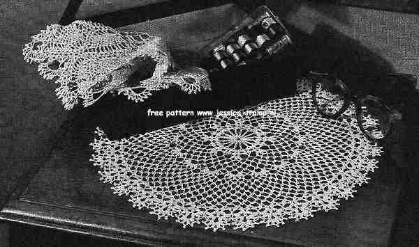 4417 Flower Edge English Doily Pattern Free Vintage Crocheted Doilies