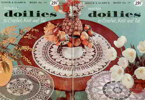 100 English Vintage Crochet Patterns Free Doily Doilies Pattern
