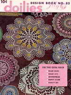 100 English Vintage Crochet Patterns Free Doily Doilies Pattern
