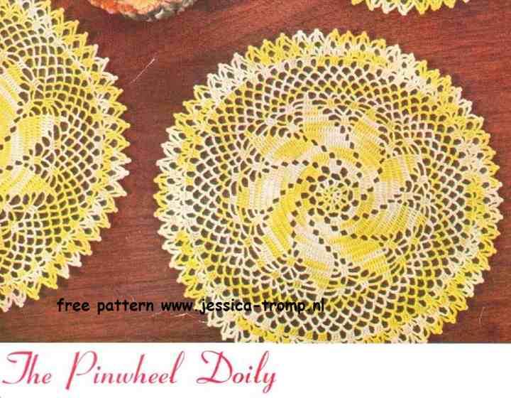 Pinwheel English Crochet Pattern Vintage Doily Free Doilies