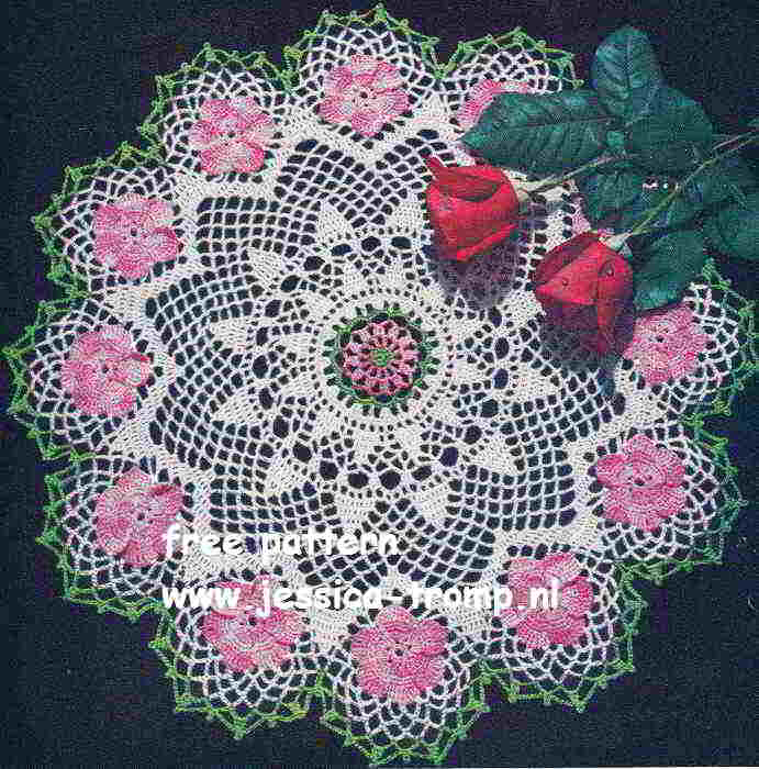 Wild Rose English Crochet Pattern Vintage Doily Free Doilies