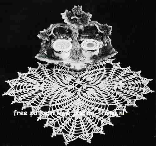 Four Square English Doily Pattern Free Vintage Crocheted Doilies