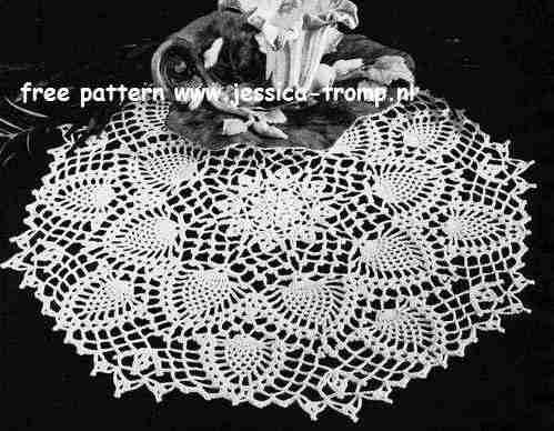 Pineapple Round English Crochet Pattern Vintage Doily Free Doilies