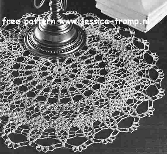 Brocade English Doily Pattern Free Vintage Crocheted Doilies
