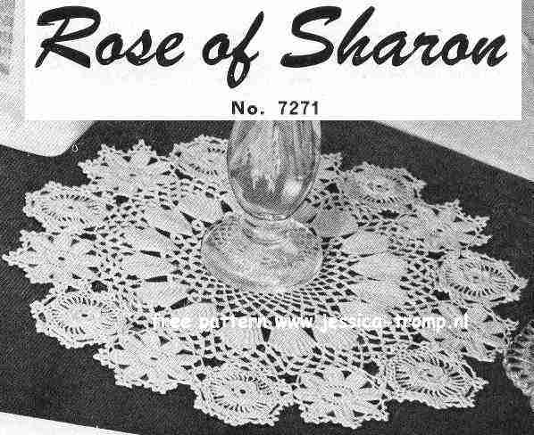 Rose Of Sharon English Crochet Pattern Vintage Doily Free Doilies