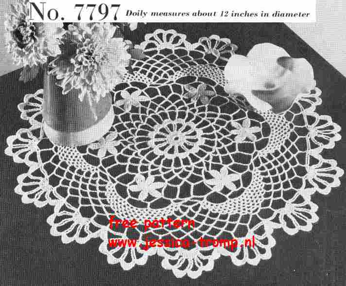 Doily No 7797 Free Vintage Crochet Doilies Patterns