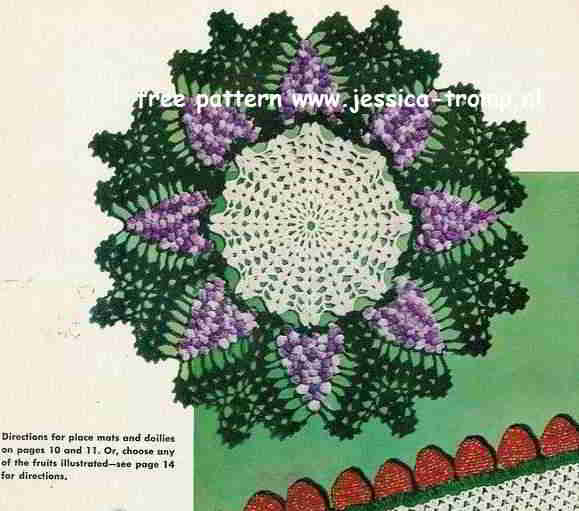 Grape English Doily Pattern Free Vintage Crocheted Doilies