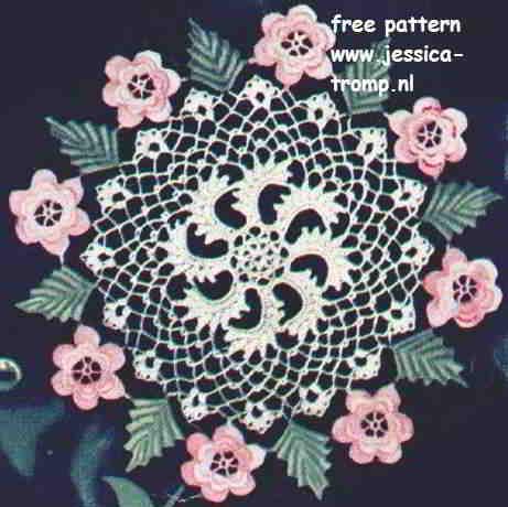 Irish Rose English Doily Pattern Free Vintage Crocheted Doilies