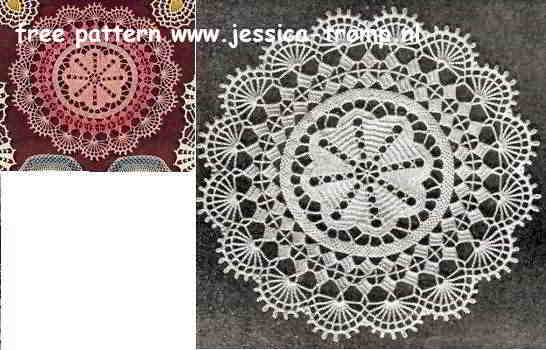 Pink Perfection English Crochet Pattern Vintage Doily Free Doilies
