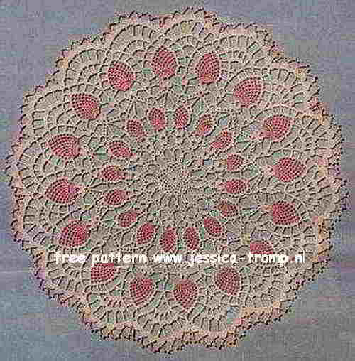 Pineapple Centerpiece English Crochet Pattern Vintage Doily Free Doilies