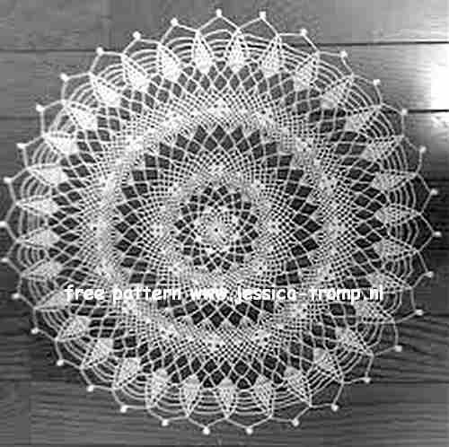 Pineapple Whirl Centerpiece English Crochet Pattern Vintage Doily