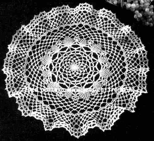 Small Pineapple Ruffle English Crochet Pattern Vintage Doily Free