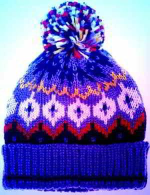 Nieuw muts48cm gratis mutsen breipatronen baby kinder winter kleding breien WM-07