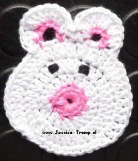 3 Applicaties Kinder Haakpatronen Free Appliqués Children Crochet