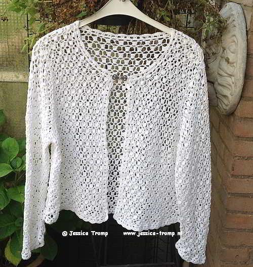 Gehaakt Wit Dames Vest Met Haakpatroon Voor Maat 50 52 54